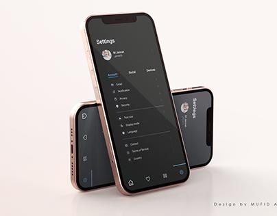 Settings UI Design