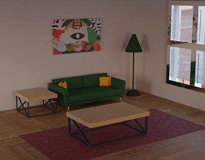 3D High Poly Interior Design