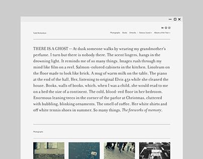 Personal Website (2016–2017)