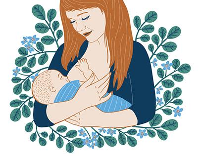 Nipple cream illustration