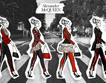 Fashion Illustration Ad: Alexander McQueen Cityscape