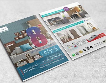 Brochure design for a furniture company