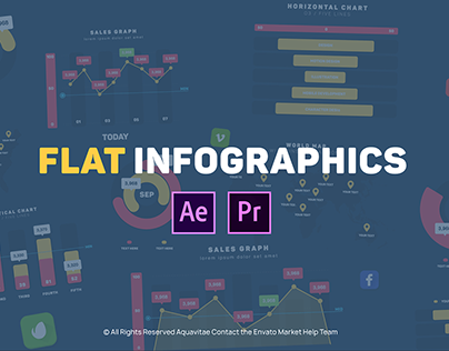Flat Infographics Package