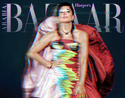 Nadine Labaki for Harper's Bazaar Arabia, October 2019.