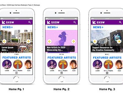 SXSW Mobile App Design