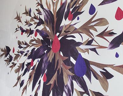 """Void"" Wheat Paste Mural"