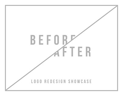 Before/after - Logo redesign showcase