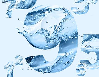 Water splashes - digits