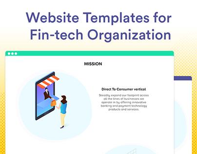 Website Templates Design for Fin-tech | UI/UX