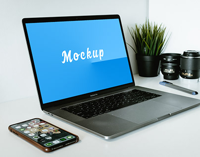 Perspective Macbook Mockup Download