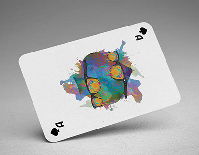 Psychedelic playing cards