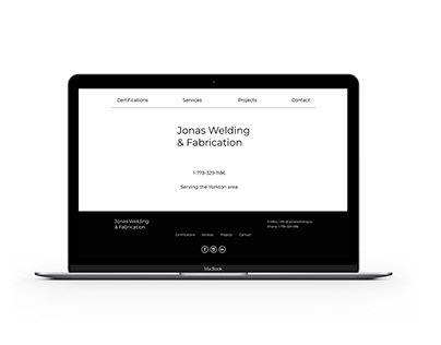 Jonas Welding & Fabrication Web Design Project