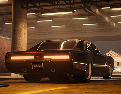 Dodge Charger RT 69   Real-time CGI with Raytracing