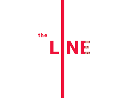 the LINE - abstract graphic concept