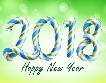 2018 Happy New Year Background Vector. Flyer