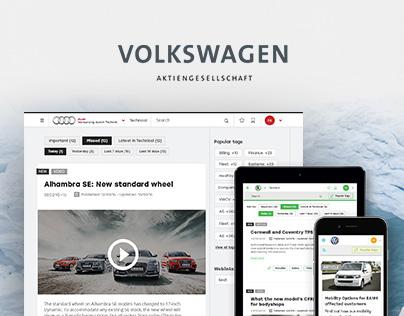 Volkswagen Group Desktop design