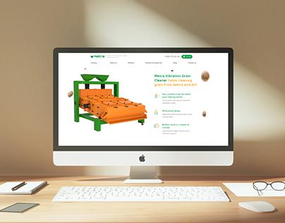 Grain cleaner landing page