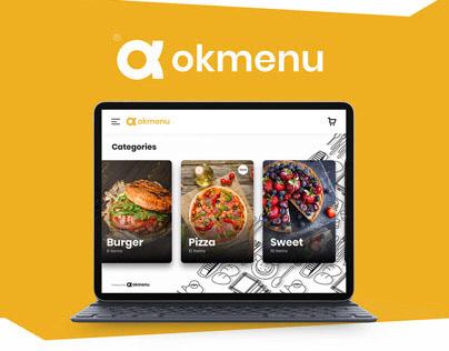 Rebrand - UI UX OKmenu iPad menu