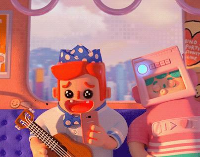 music robots 3D design