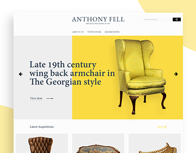 Anthony Fell Antiques_Website Design