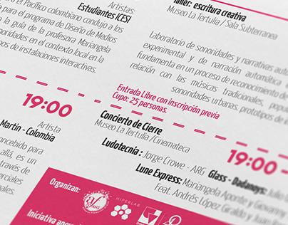 Videosonica 2015 - Print Design