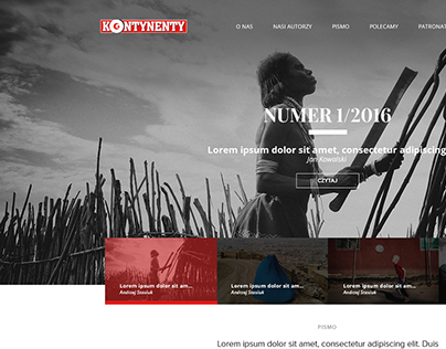 Magazyn Kontynenty - new website