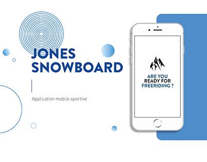 Application mobile - Jones Snowboard - Maquette XD