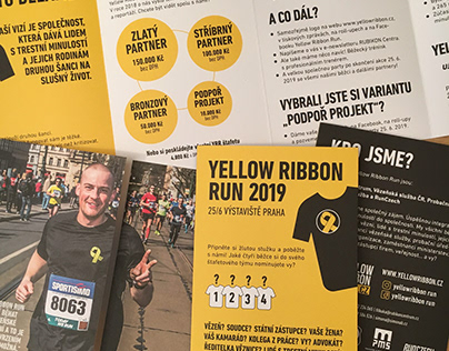 Flyers for Czech section of the Yellow Ribbon Project