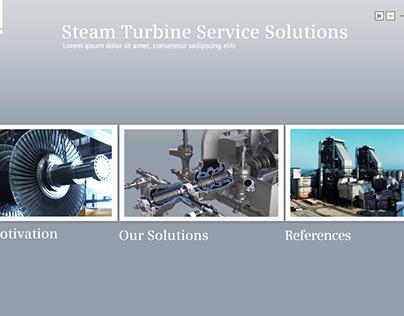 """Siemens - interactive presentation """"Steam Turbine"""""""