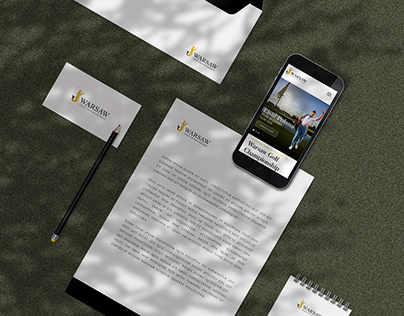 Warsaw Golf Championship - website and visual identity.