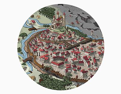 Fictional map - Filho da Nkite - Fio da Espada
