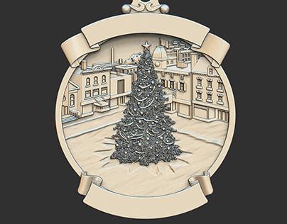 Christmas medallion