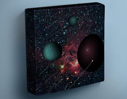 the Wanderer - digital sci-fi art canvas wrap