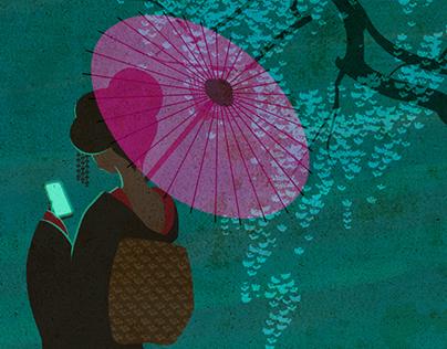 Chatting Geisha