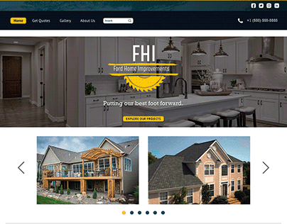 FHI Home Improvements Landing Page