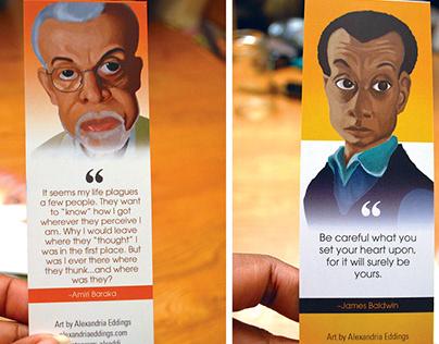 James Baldwin and Amiri Baraka Illustrations/Bookmarks