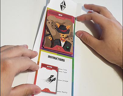 Portfolio collectible card game | Mailer Concept