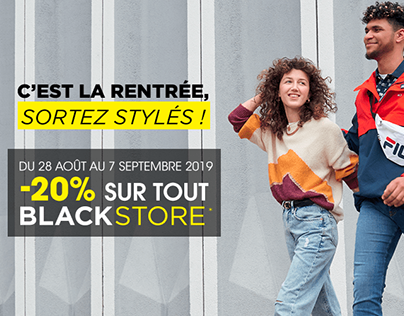 Support de communication - Blackstore