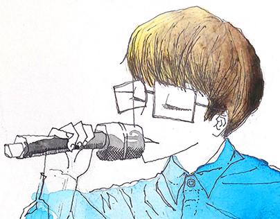 watercolor doodles