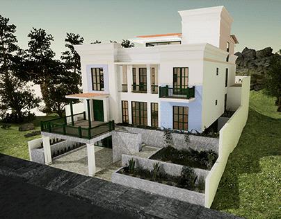 House exterior design from plan floor.