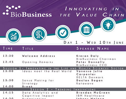 Talk: Keynote, BioBusiness Conference