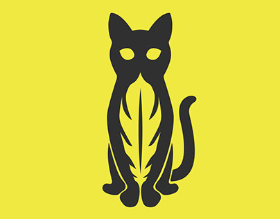 Cat & Feather Logo