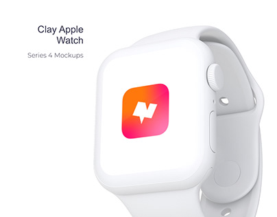 Clay Apple Watch Mockups Packs