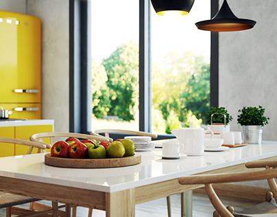 Yellow Kitchen - Hodidu Studio