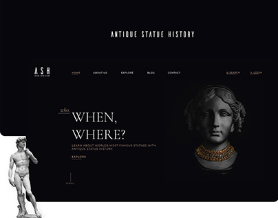 Antique Statue History UI/UX Project