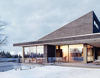 Villa Vingt repro - Architectural Visualization