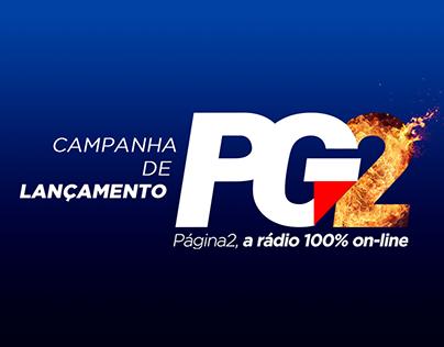 Campanha de Lançamento - Rádio PG2 On-line