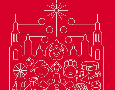 Cartel Fiestas del Pilar 2016