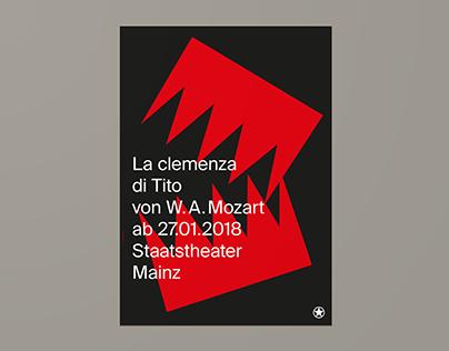 Staatstheater Mainz – La Clemencia (Poster)