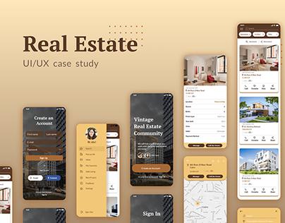 Real Estate App UI/UX Case Study